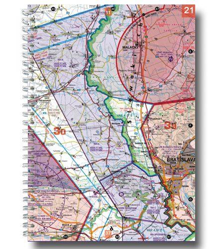 Österreich Rogers Data VFR Luftfahrtatlas 200k