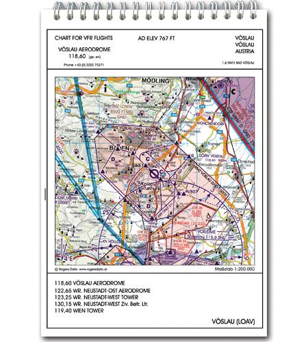 Rogers Data VFR Trip Kit Flugplatzkarten Anflugblätter