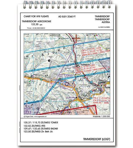 Österreich VFR Trip Kit 200k Flugplatzkarten Anflugblätter