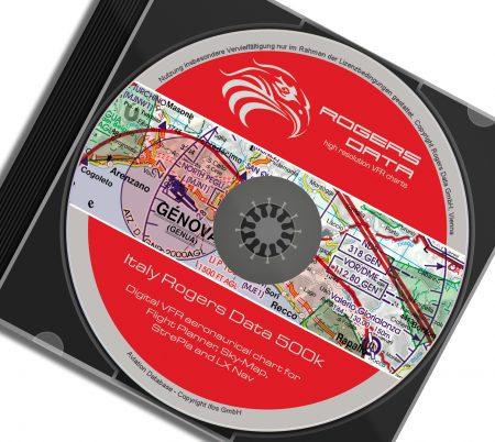 CD Italien VFR Luftfahrtkarte - ICAO Karte 500k 2020