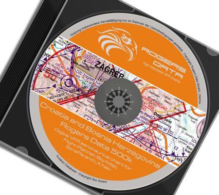 CD Kroatien VFR Luftfahrtkarte - ICAO Karte 500k 2020