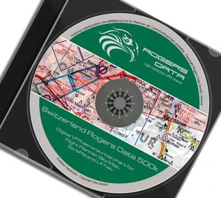 CD Schweiz VFR Luftfahrtkarte - ICAO Karte 500k 2020