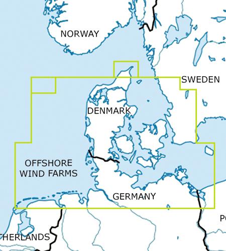 Dänemark-VFR-Luftfahrtkarte-ICAO-Karte-500k