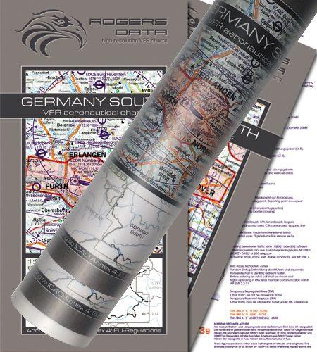 Deutschland 2er Set VFR Luftfahrtkarte Wandkarte 500k 2020