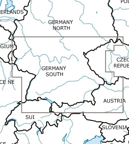 Deutschland-Süd-VFR-Luftfahrtkarte-ICAO-Karte-500k