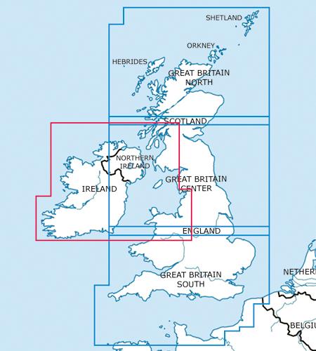 Great Britain-Ireland VFR Aeronautical Chart – ICAO Chart