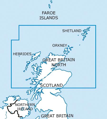 Great Britain North VFR Aeronautical Chart – ICAO Chart 500k