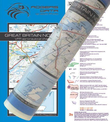 England Nord VFR Luftfahrtkarte Wandkarte 500k 2020