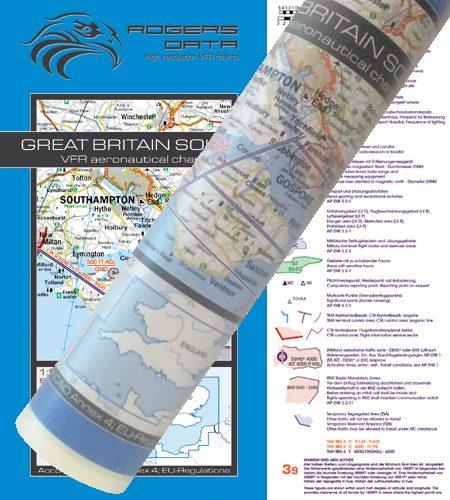 Great Britain South Wallchart ICAO VFR Aeronautical Chart 500k 2020