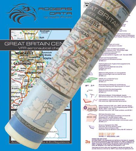 Great Britain Center Wallchart ICAO VFR Aeronautical Chart 500k 2020