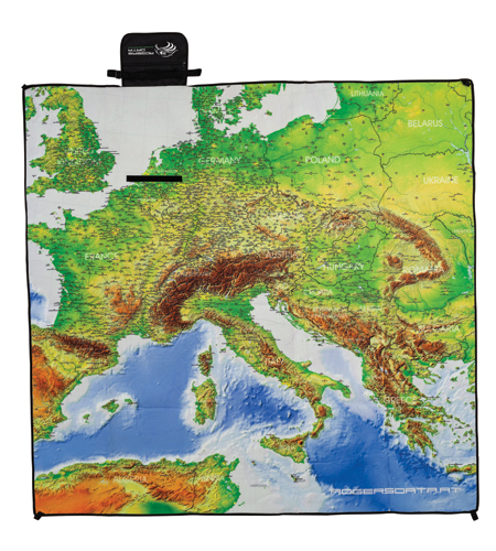 "Picknickdecke ""European Aerodromes"" XL Rogers Data"