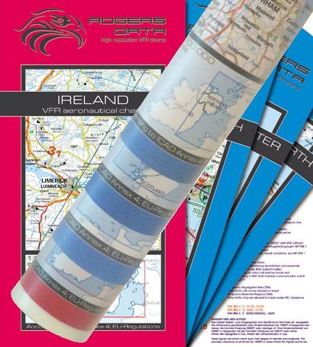 Great Britain – Ireland Set of 4 Wallcharts ICAO VFR Aeronautical Charts 500k 2020
