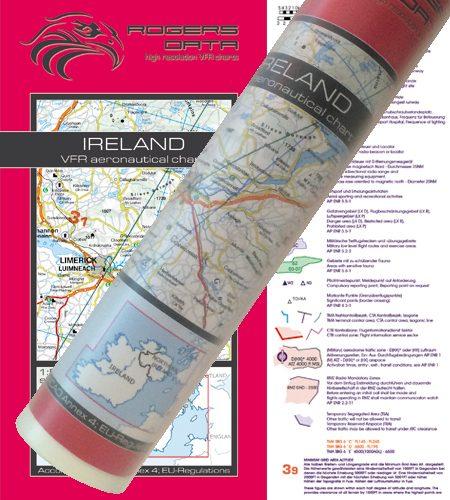 Irland VFR Luftfahrtkarte Wandkarte 500k 2020