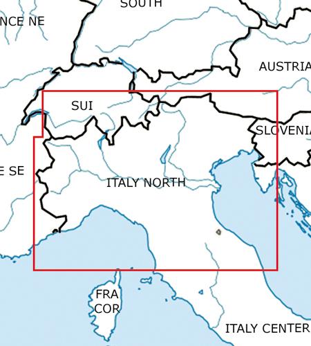 Italien-Nord-VFR-Luftfahrtkarte-ICAO-Karte-500k