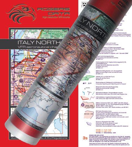 Italien Nord VFR Luftfahrtkarte Wandkarte 500k 2020