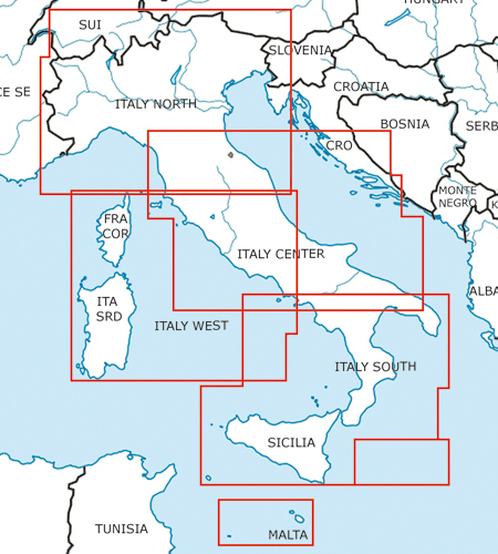 Italien-VFR-Luftfahrtkarte-ICAO-Karte-500k