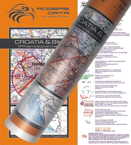 Croatia – Bosnia Herzegovina Wallchart ICAO VFR Aeronautical Chart 500k 2020