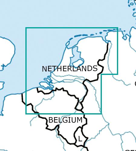 Netherlands VFR Aeronautical Chart – ICAO Chart 500k