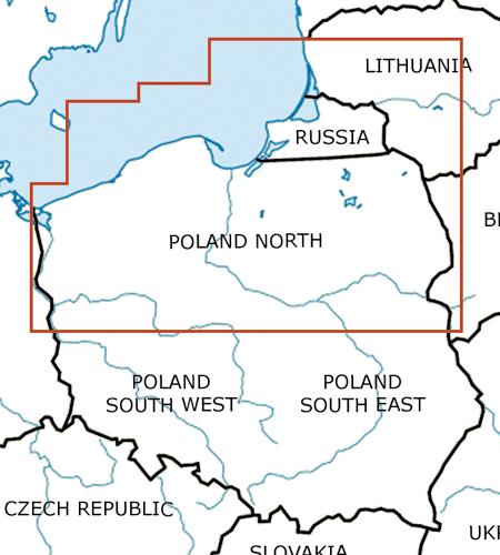 Polen-Nord-VFR-Luftfahrtkarte-ICAO-Karte-500k