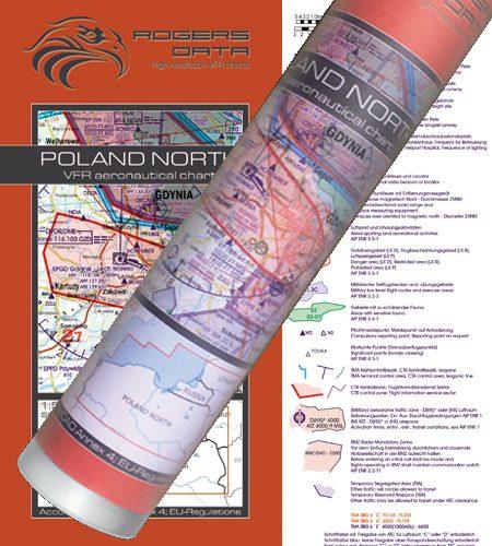 Polen Nord VFR Luftfahrtkarte Wandkarte 500k 2020