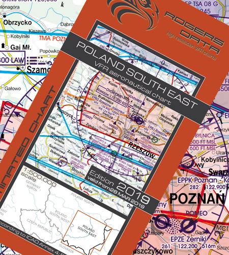 Polen-Süd-Ost-VFR-Luftfahrtkarte-ICAO-Karte-500k-2019