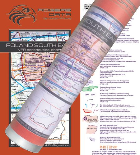 Polen Süd Ost VFR Luftfahrtkarte Wandkarte 500k 2020