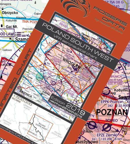 Polen-Süd-West-VFR-Luftfahrtkarte-ICAO-Karte-500k-2019