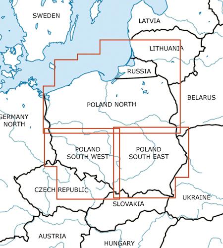 Polen-VFR-Luftfahrtkarte-ICAO-Karte-500k