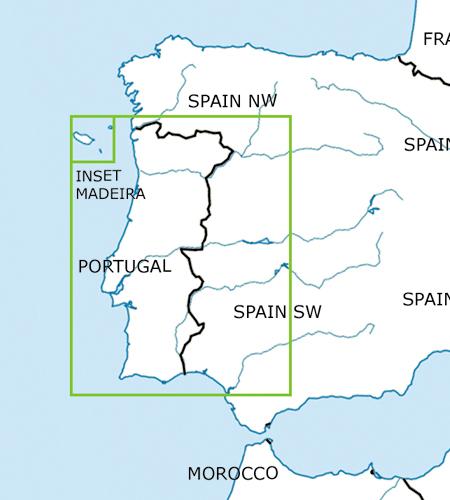 Portugal-VFR-Luftfahrtkarte-ICAO-Karte-500k