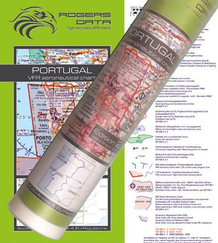 Portugal VFR Luftfahrtkarte Wandkarte 500k 2020