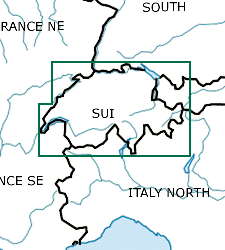 Schweiz-VFR-Luftfahrtkarte-ICAO-Karte-500k