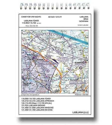 Slowenien VFR Trip Kit 200k Rogers Data Flugplatzkarten Anflugblätter