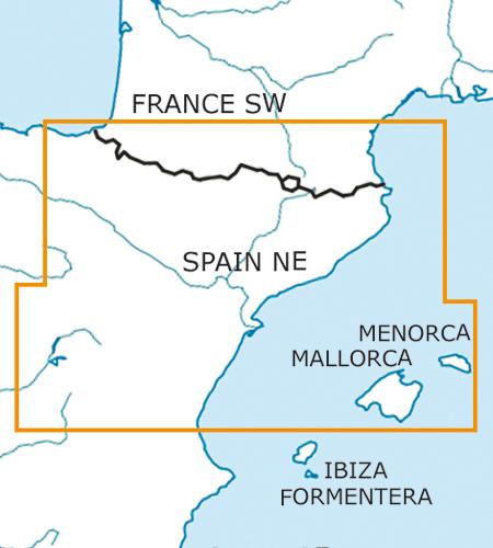 Spanien 4er Set Wandkarten Luftfahrtkarte 500k Rogers Data