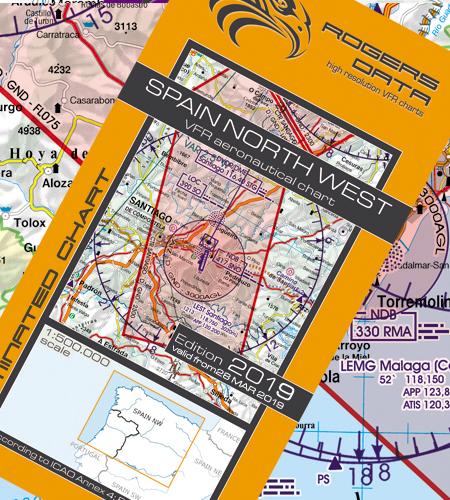 Spanien-Nord-West-VFR-Luftfahrtkarte-ICAO-Karte-500k-2019