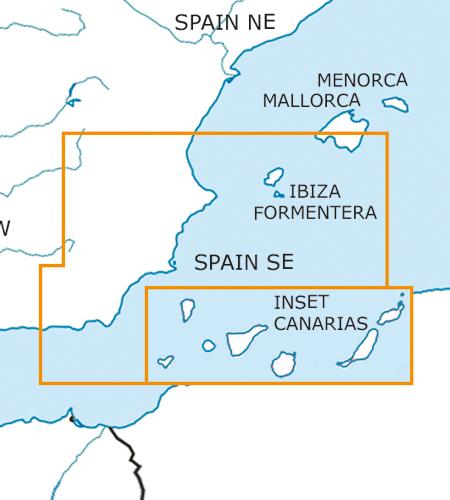 Spain South East VFR Aeronautical Chart – ICAO Chart 500k