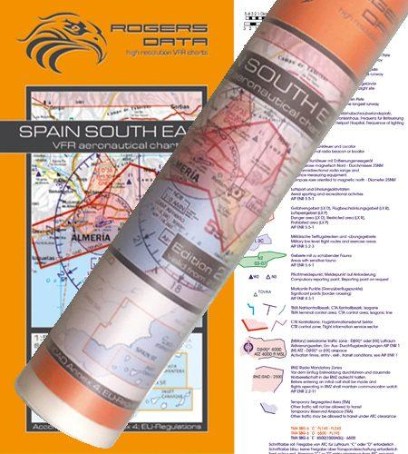 Spanien Süd Ost VFR Luftfahrtkarte Wandkarte 500k 2020