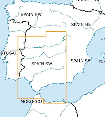 Spanien-Süd-West-VFR-Luftfahrtkarte-ICAO-Karte-500k