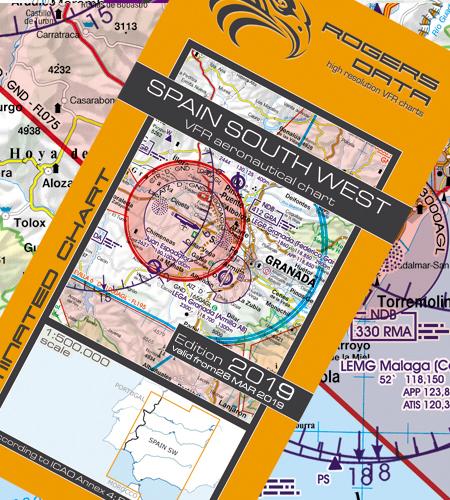 Spanien-Süd-West-VFR-Luftfahrtkarte-ICAO-Karte-500k-2019