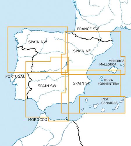 Spanien-VFR-Luftfahrtkarte-ICAO-Karte-500k