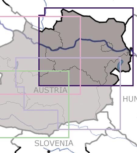 Niederösterreich-Wien-VFR-Luftfahrtkarte-ICAO-Karte-200k