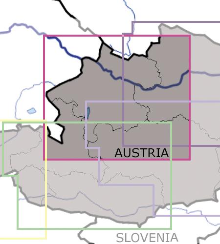 Oberösterreich-VFR-Luftfahrtkarte-ICAO-Karte-200k