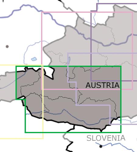 Salzburg-Kärnten-VFR-Luftfahrtkarte-ICAO-Karte-200k