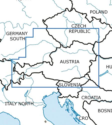 Österreich-VFR-Luftfahrtkarte-ICAO-Karte-500k