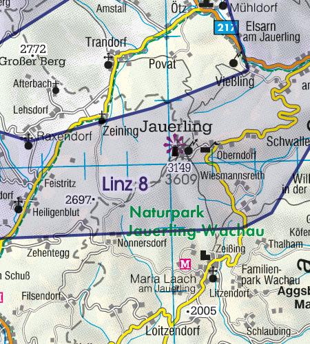 Österreich Sichtflugkarte Militär Tiefflugstrecken