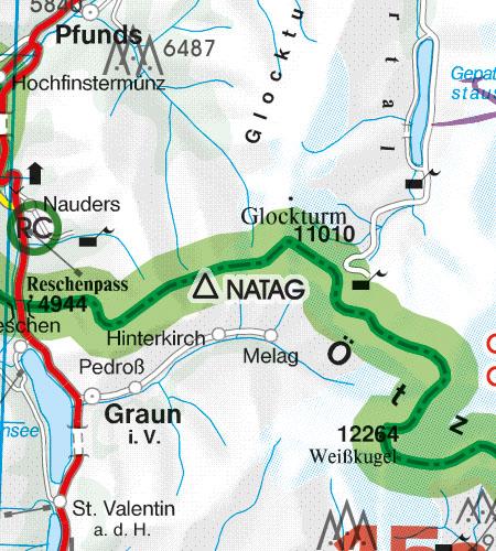 Österreich Sichtflugkarte 500k Grenzüberflugspunkte