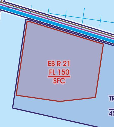 Belgien Luxemburg VFR Luftfahrtkarte Flugbeschränkungsgebiet