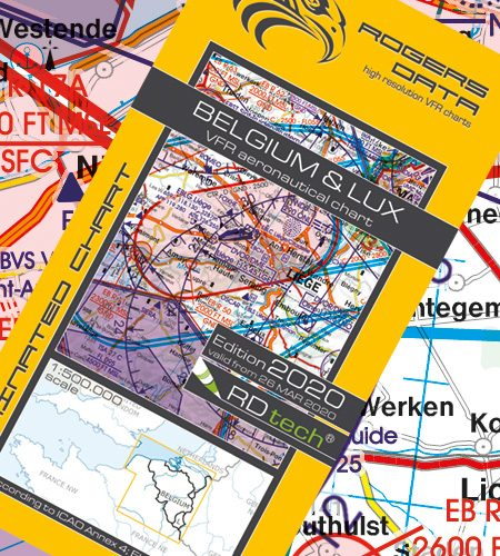 Belgien Luxemburg VFR Luftfahrtkarte - ICAO Karte 500k 2020