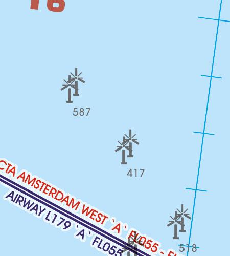 Belgien Luxemburg VFR Luftfahrtkarte Windräder Windkraftwerke Offshore