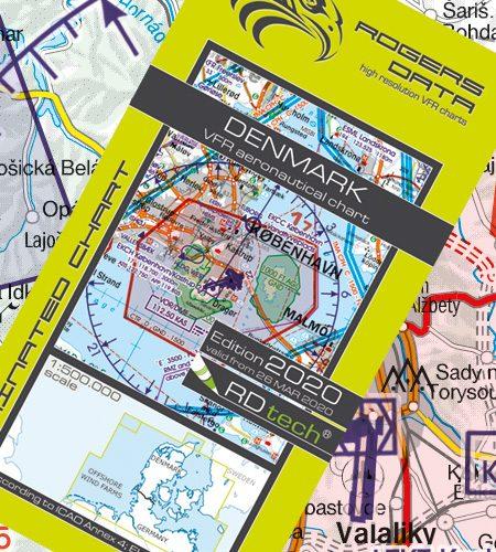 Dänemark VFR Luftfahrtkarte - ICAO Karte 500k 2020