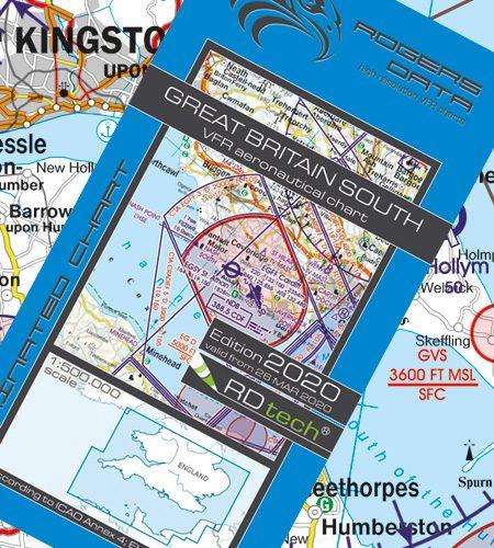 England Süd VFR Luftfahrtkarte - ICAO Karte 500k 2020